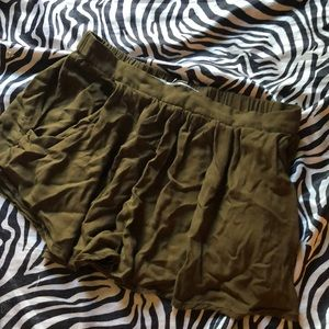 Urban outfitters olive short/skirt